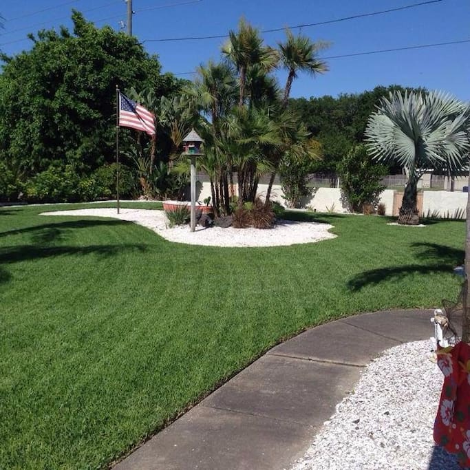 Perfectly manicured lawn