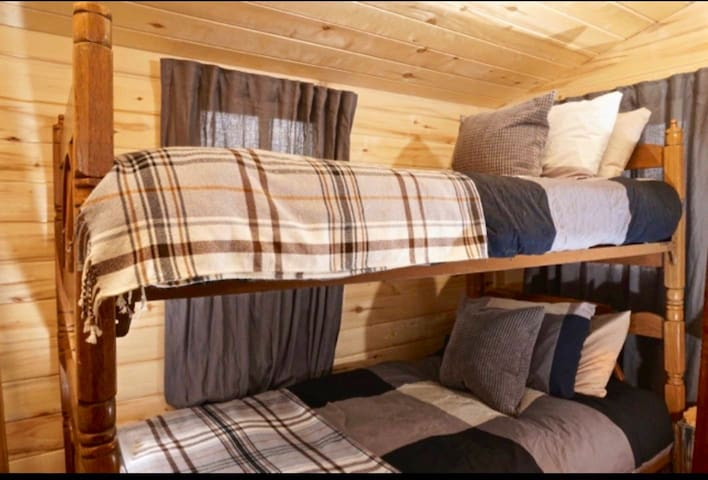 Bunk bed room off of kitchen