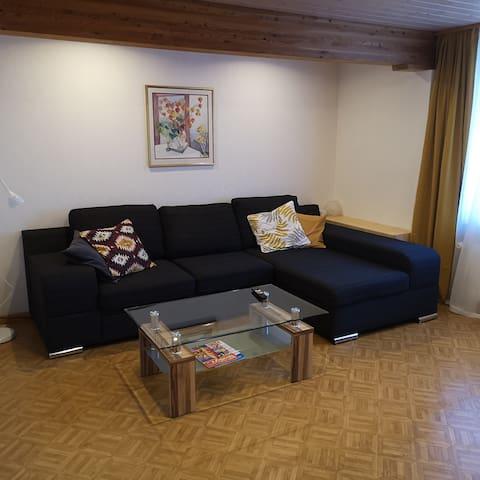 Gemütliche 3-Zimmer-Wohnung in Chalet-Haus
