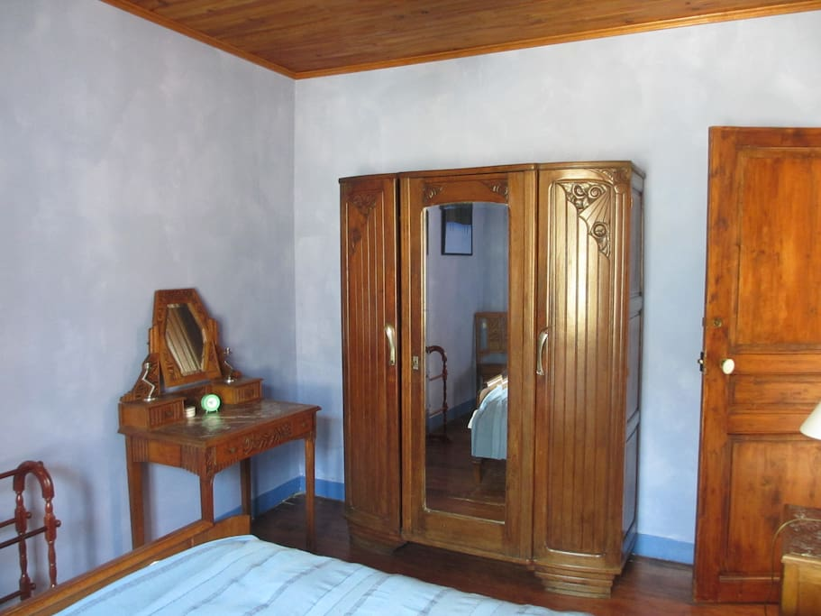 Double bedroom, showing antique furnishing