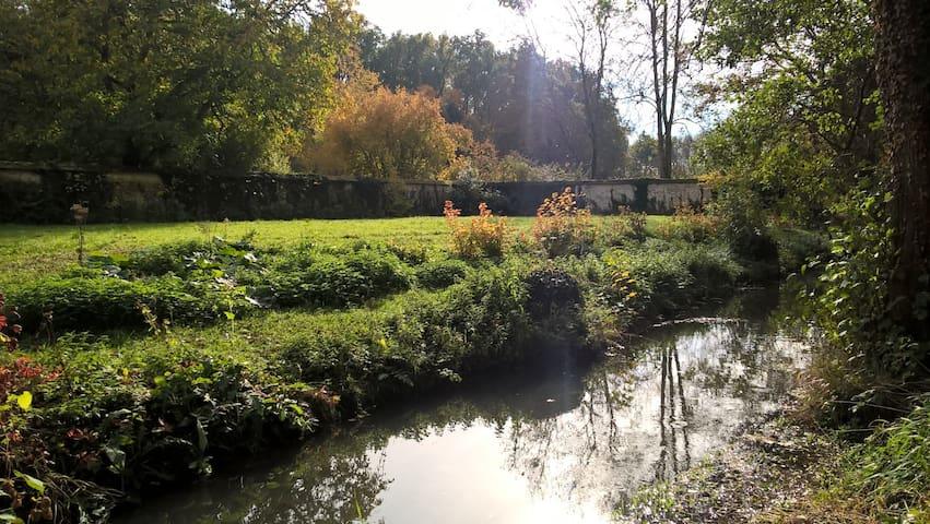 Moulin du Coignet : Chambre cosy au bord de l'eau