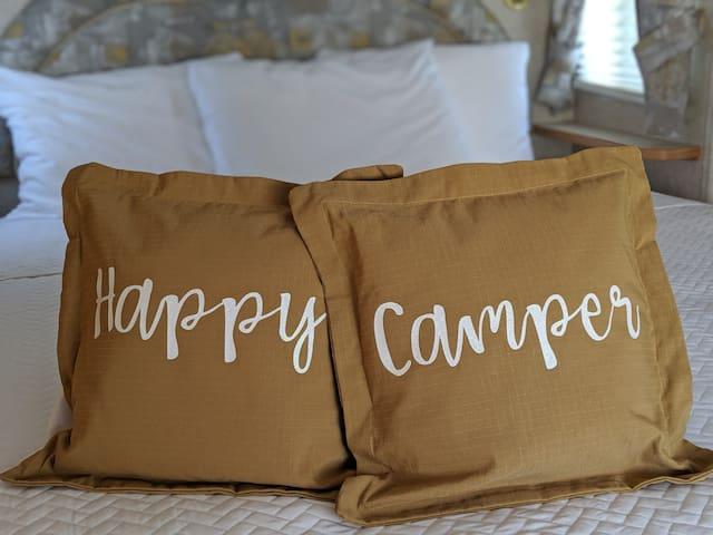 Happy Camper at Endless Caverns