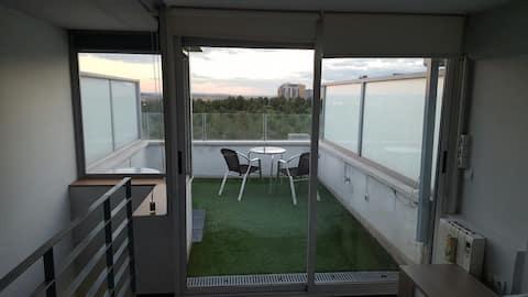 Precious loft with 2 terraces y 1 parking lot