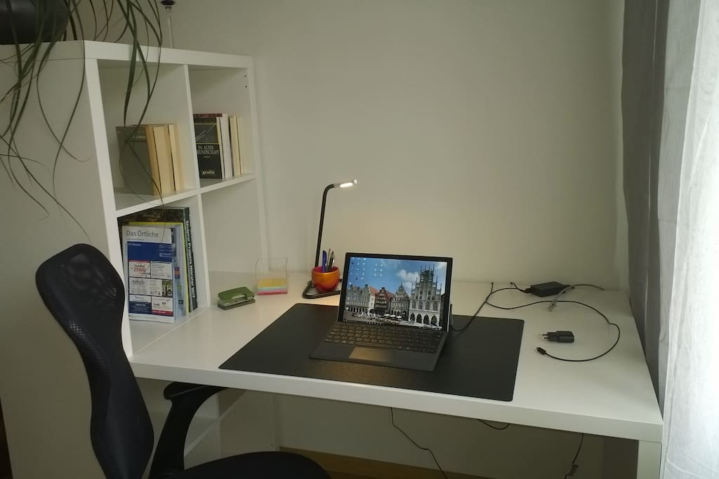 Arbeitsplatz, WLAN, Internet