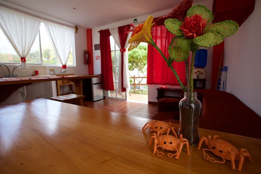 Nice decoration, fun and relaxing environment to feel at home while you explore the islands.