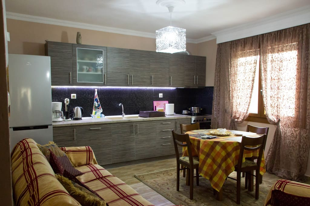 Our kitchen is fully equipped and allows you to prepare your morning coffee or lunch.