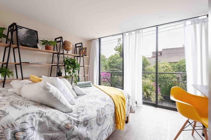 ⭐️Roma Norte Full Stylish Apartment w/ roof garden