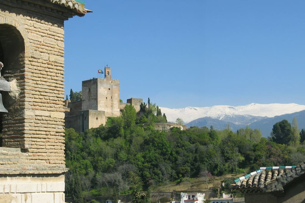 Spectacular views from private terrace of the Alhambra & mountains