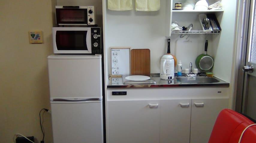 冷蔵庫 ポット 電子レンジにトースター