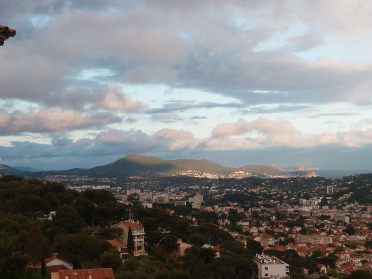 vue de l'appartement sur la Rade de Toulon