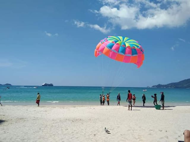 10 minutes walk to Patong beach