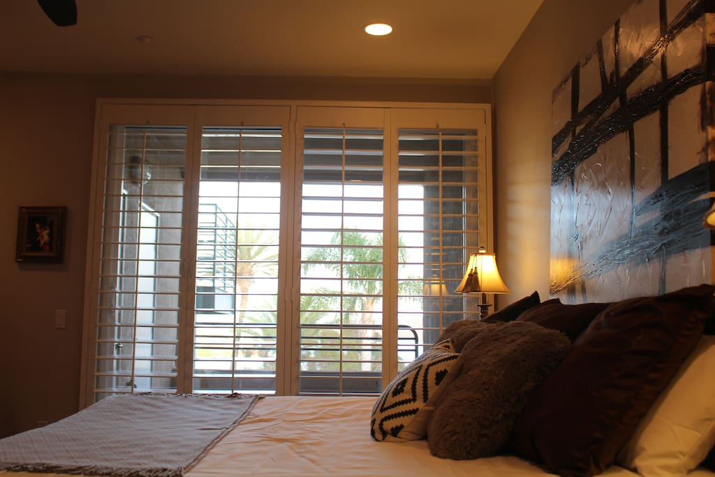 Beach views form master bedroom