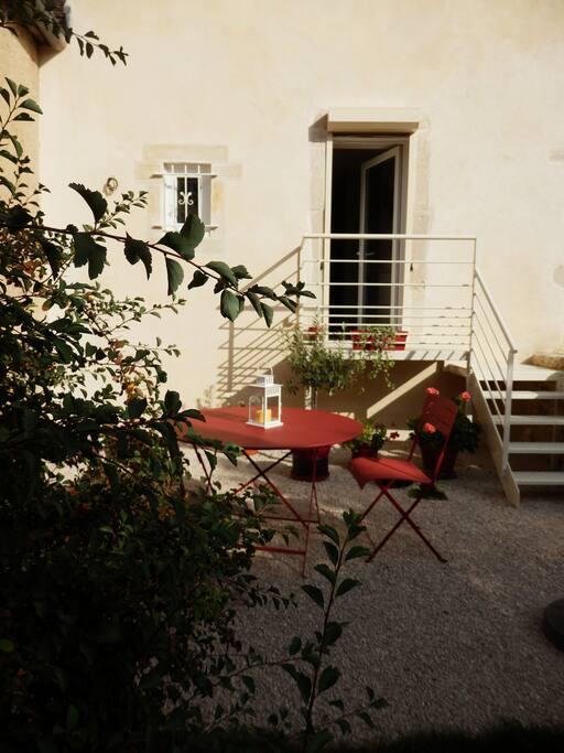 terrasse privative côté jardin