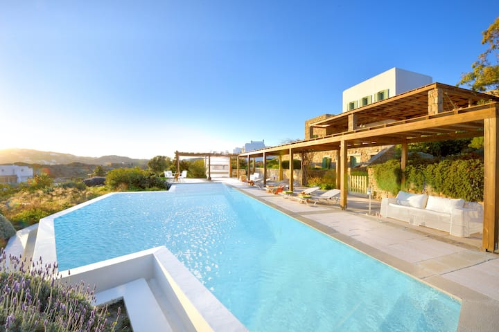 Villa Joy of Mykonos (pool, sea view, near center)