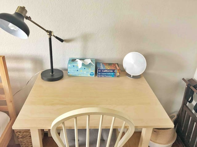 Dedicated desk for working