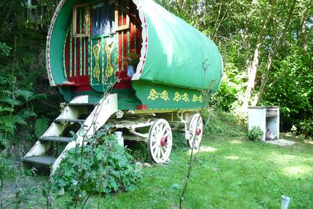 Romantic Romany Wagon Retreat,  peace & seclusion