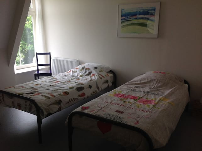 Twinbed room with own washbasin, shared shower. - Hinnaard - Flat