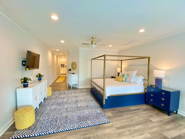 Incredible master bedroom with king size bed