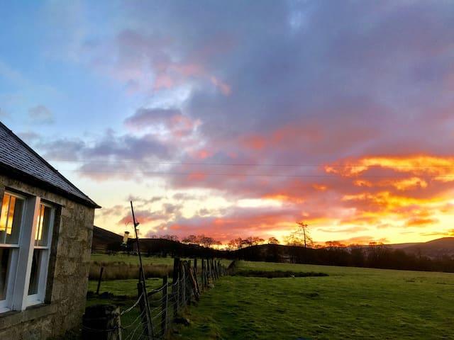 Sunrise over Glenesk