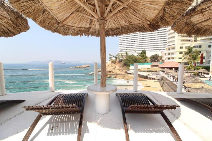 Suite a pie de playa en la mejor Zona