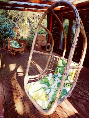 Porch with hang chair