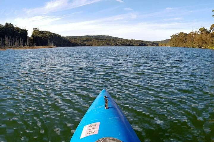 Lake view from kayak - photo by guest Jo Van Dyk