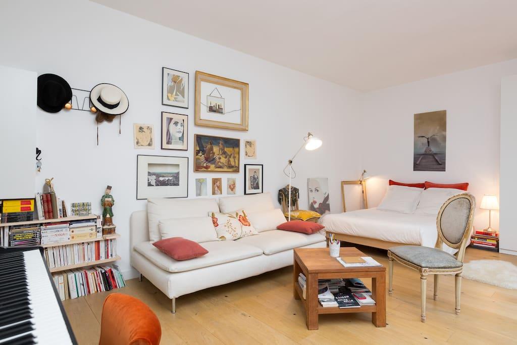 Appartement romantique saint ouen garibaldi for Appartement atypique saint ouen