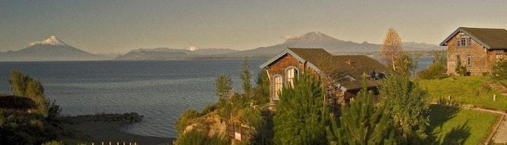 Cabaña Premium, Kutral, vistas al lago, P. Varas