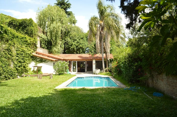Hab y entrada priv Casa c/jardin pile Lollapalooza