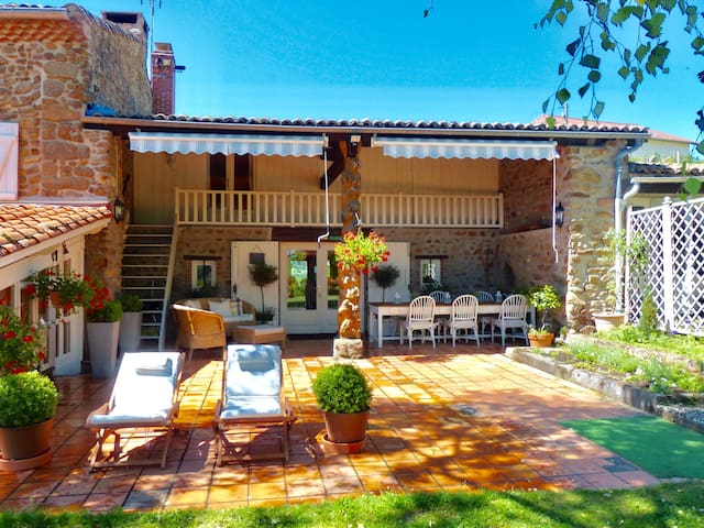 stylish rural gite with fabulous views