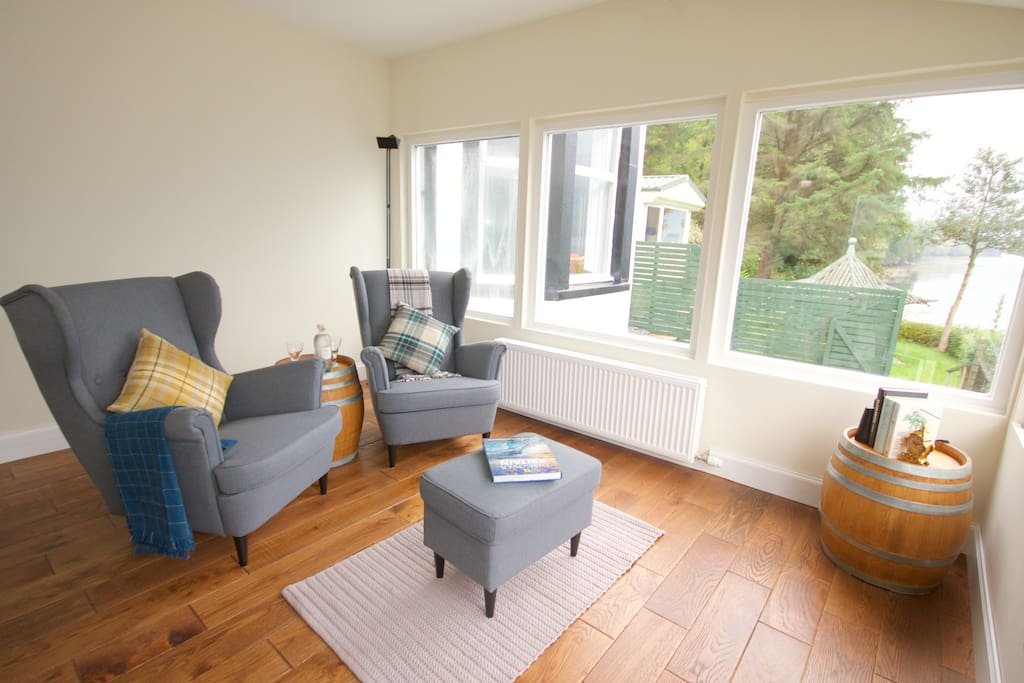 Front Room - put your feet up with a cuppa. Dive into a good book or simply sit back and admire the view