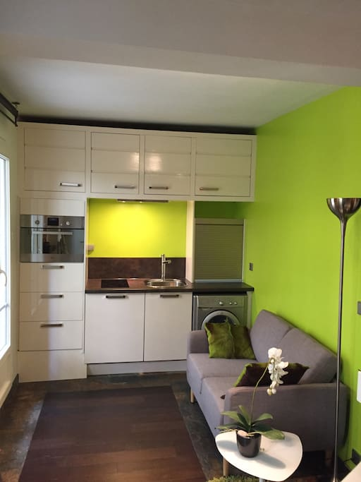 New & Smallest Kitchen from June 2017 to enjoy a larger living-room with a sofa!!