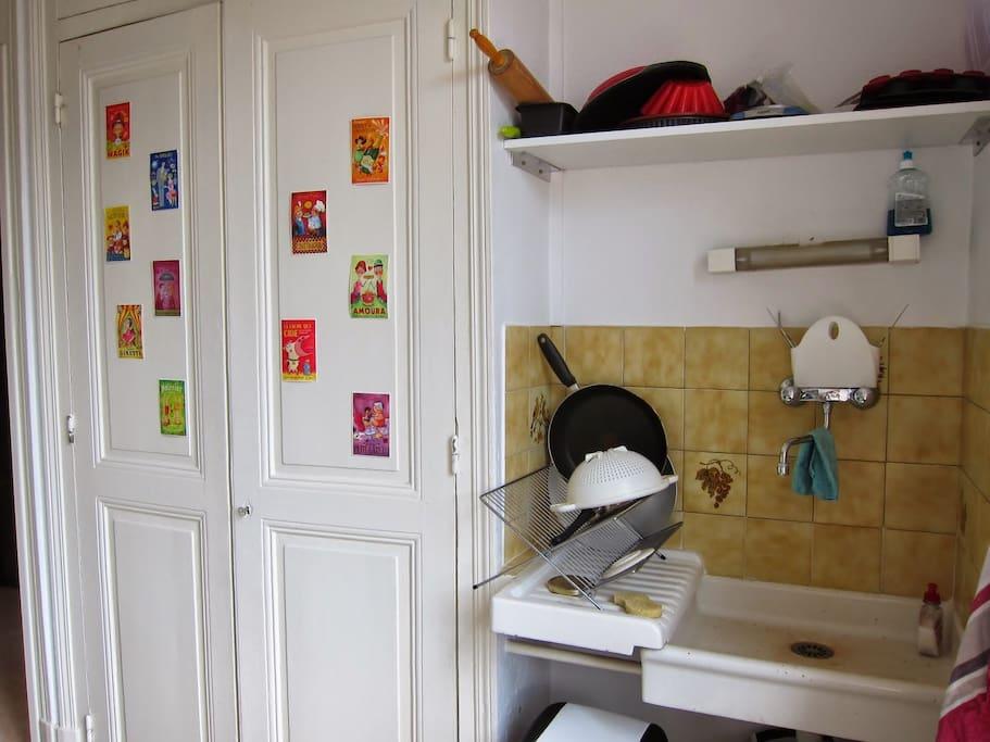 L'évier de la cuisine
