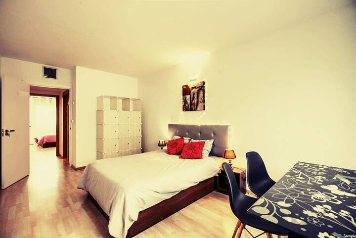 Habitación privada, tranquila y acogedora.