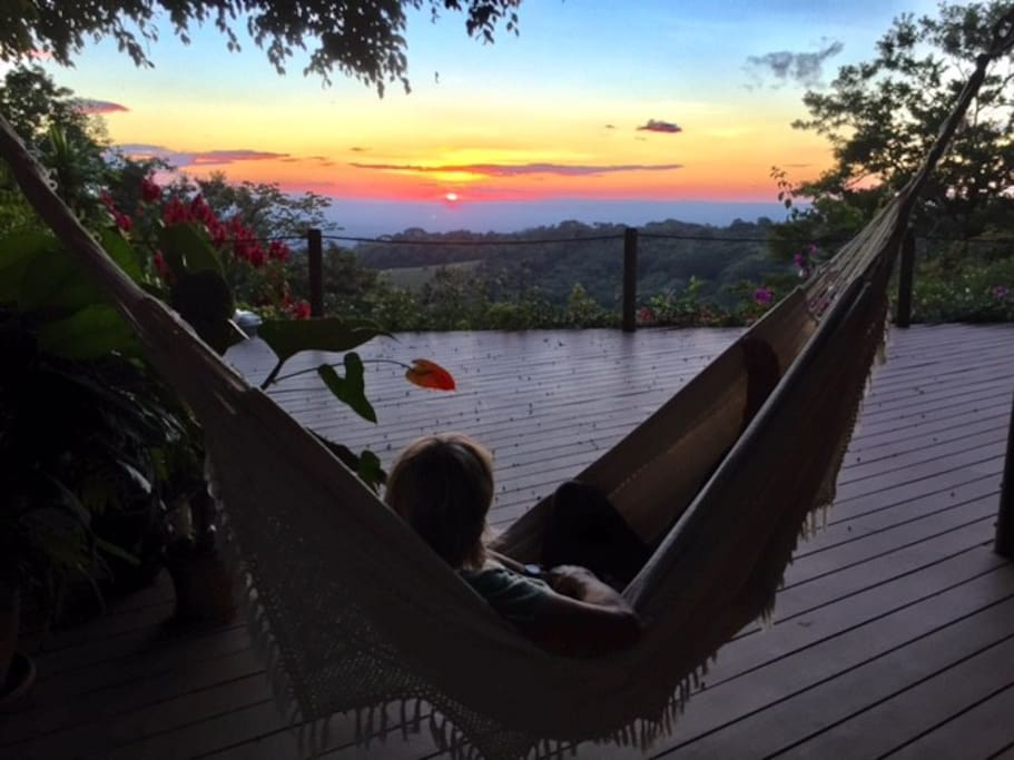 View from the Hammock on the Sunset Deck