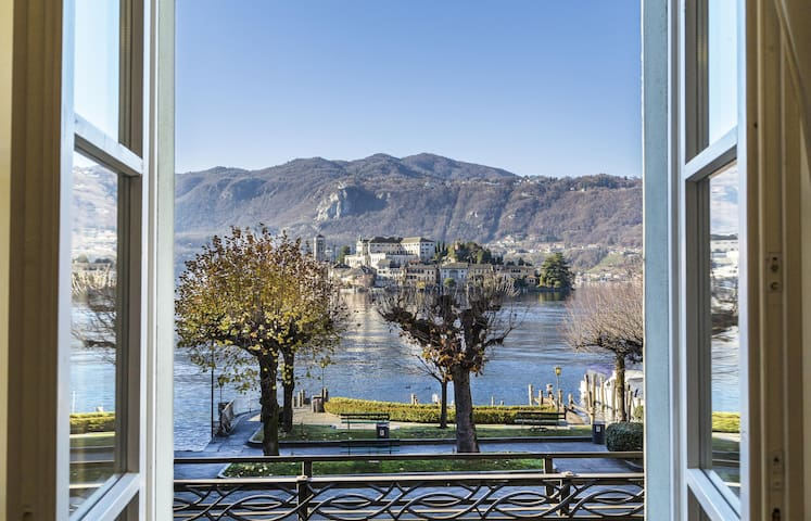 L'ISOLA house with island view - Orta San Giulio - Apartemen