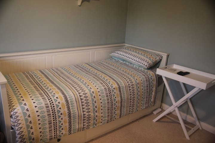 This bed can be made up into a double (with an airbed) for an extra guest