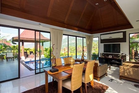 Bali Style Villa with Panoramic Mountain View