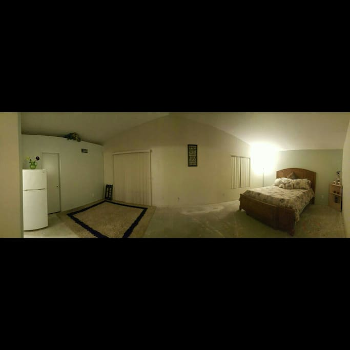 Panoramic view of the Master Bedroom