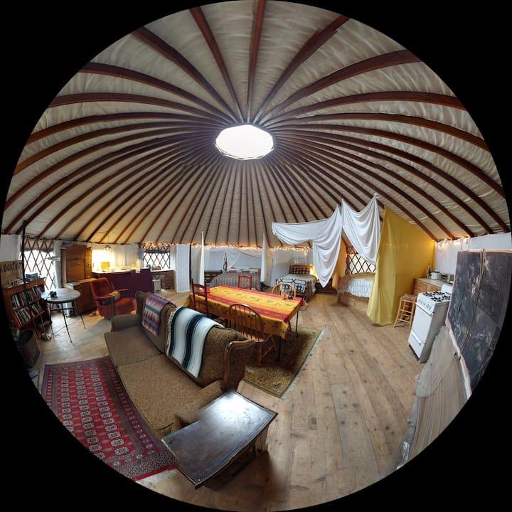 Farmstead Yurt in the Cascades