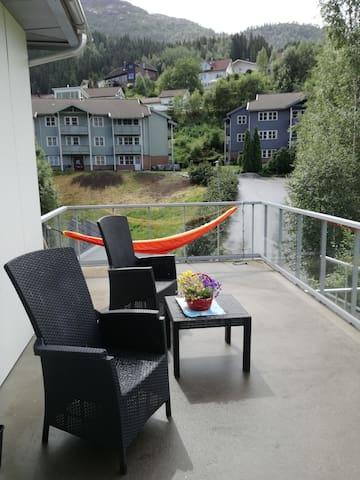 Centric top floor apartment in Førde