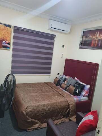 Well furshined room for your pleasurable and desired sleep with a fully orthopaedic mattress, very fluffy pillows and duvet to make you have best of dreams there...