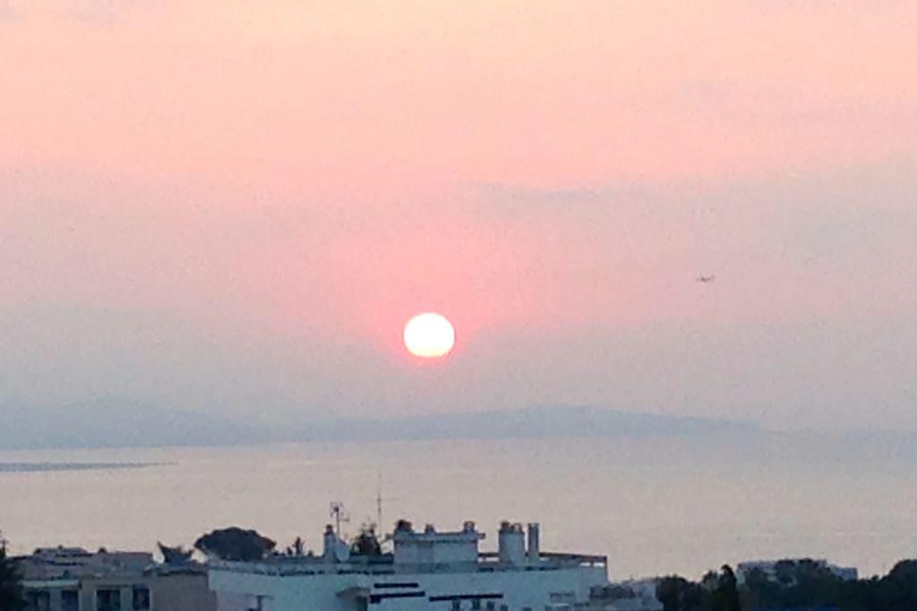 Lever de soleil depuis SDB et balcon
