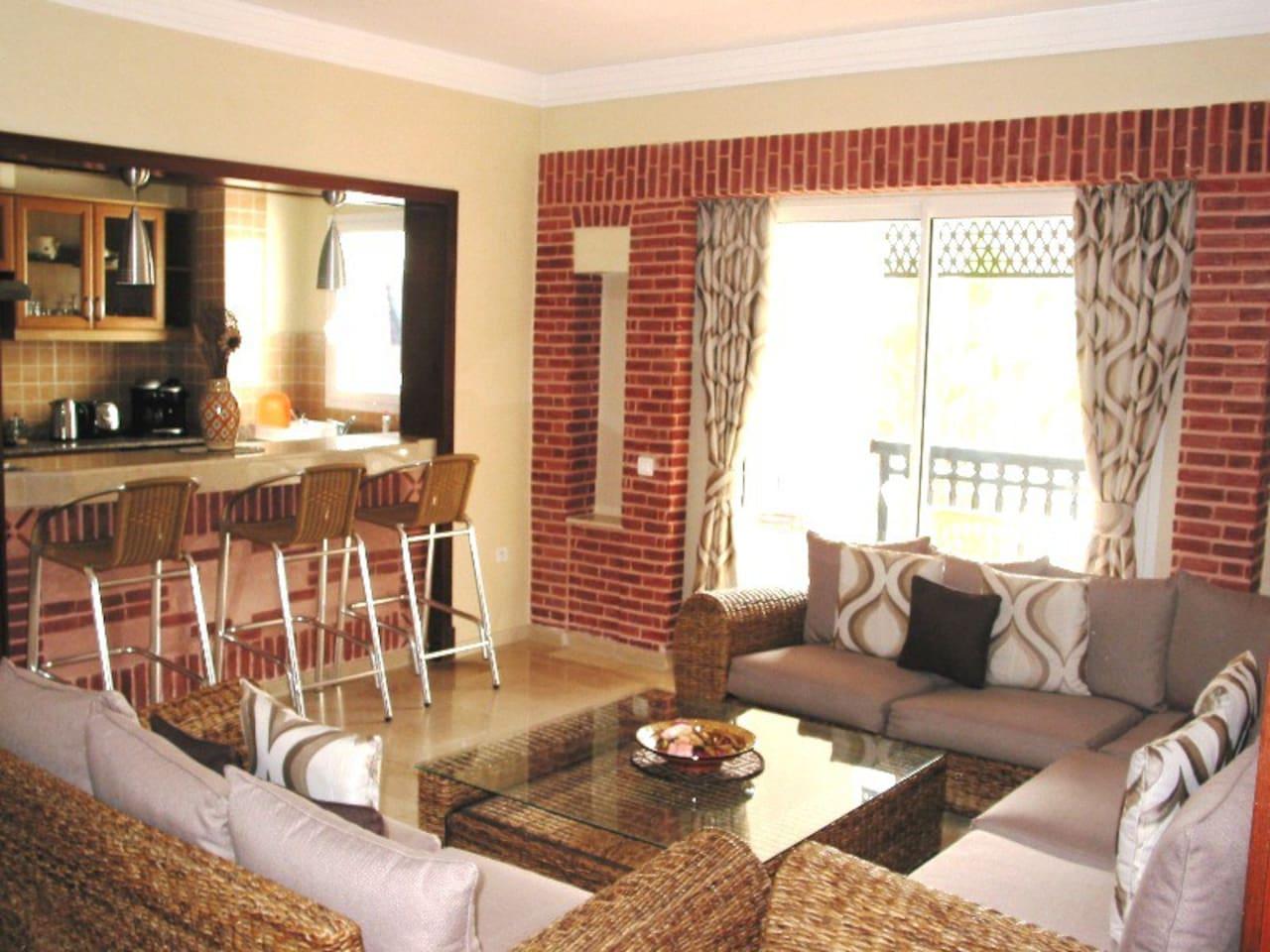 Marina Agadir - Living Room