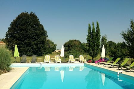 Gîte plain-pied piscine 5 pers 3 cham Wifi Parking