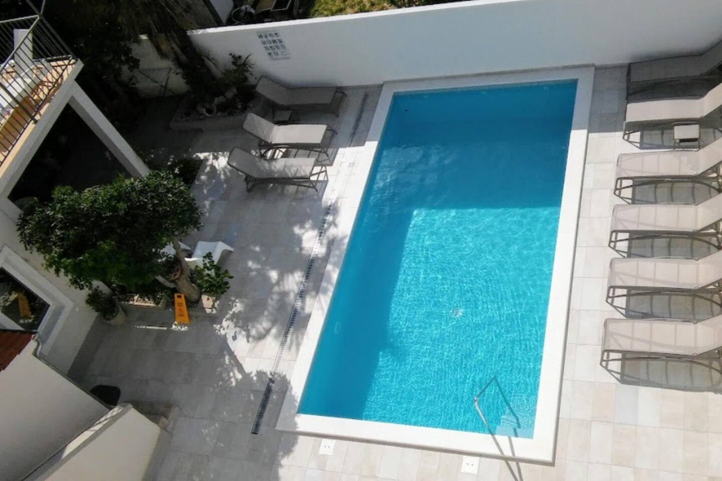 terrace with pool view, I. floor
