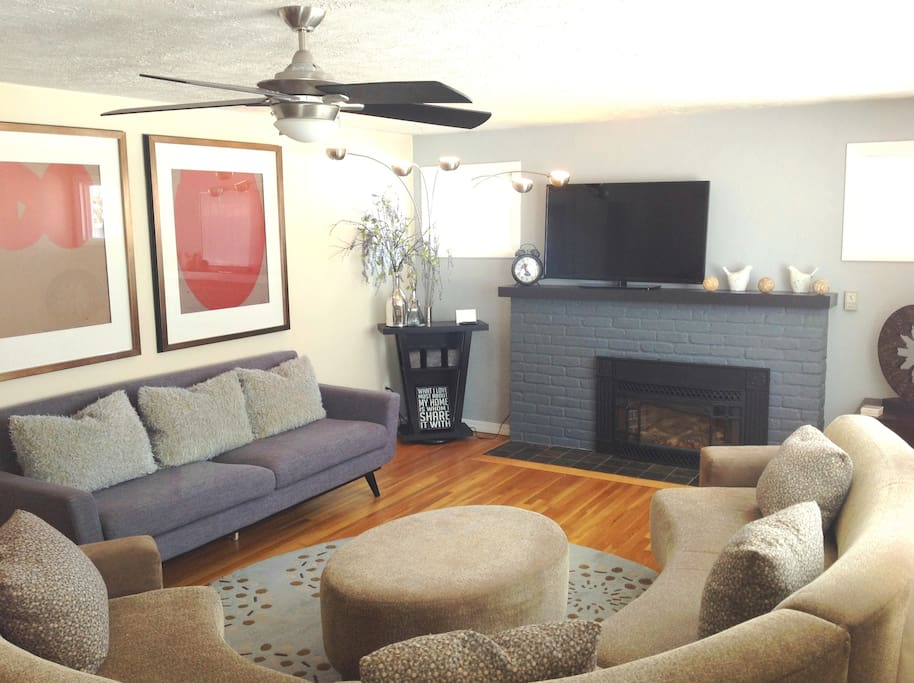 Living Room Gathering | Nicole Miller Sectional w/Down Pillows