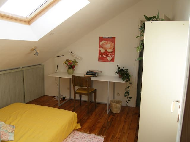 Chambre avec salle de bain à l'étage de la maison - Orléans - เกสต์เฮาส์