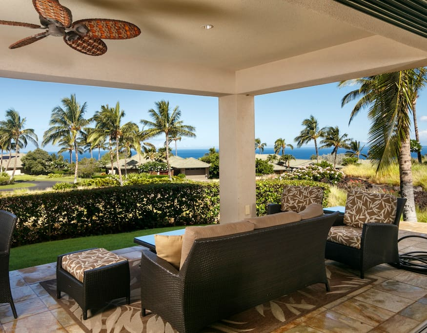 Views of Ocean from Covered Lanai