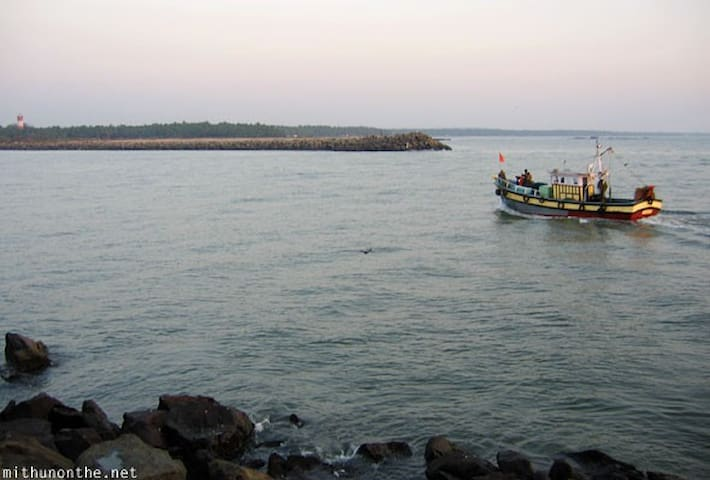 This is the famous Beypore Beach and connects to the Chaliar river, a scenic beauty and a must see place.